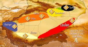 Taklamakan Desert Map Tarim Basin An Oasis Of Strife And Civilization 1 安西