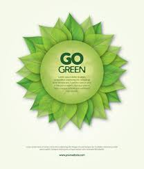 design logo go green go green poster vector free download