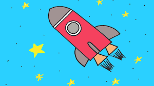 how to draw a rocket ship in space step by step drawing lesson for