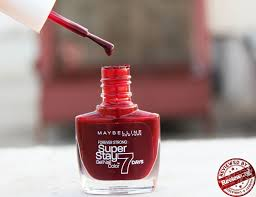maybelline superstay 7 day gel nail color u201cmidnight red u201d review