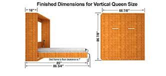 Do It Yourself Murphy Bed Amazon Com Queen Size Vertical Mount Easy Diy Murphy Wall Bed