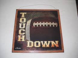 amazon com touch down football boys sports bedroom wooden wall