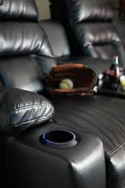 Viva 2577 Home Theater Recliner Director Theater Seating 3 Black Leather Chairs Coa 5000 3
