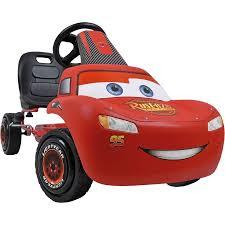 lighting mcqueen pedal car disney lightning mcqueen pedal go kart walmart com