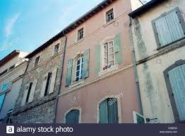 house with painted fake window and shutters arles provence
