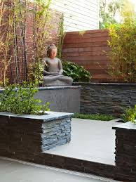 Fantastic Asian Landscape Design With Bamboo Trees And Budha - Asian backyard designs