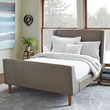 West Elm Bedroom Furniture Sale Leather Upholstered Sleigh Bed Set Elephant Gray Bedrooms