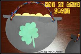 st patrick u0027s day pot of gold craft