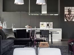 cuisine noir et gris salon noir et blanc et salon gris en 50 photos remarquables