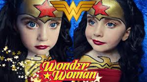 Halloween Kids Makeup by Kids Version Wonder Woman Makeup Youtube