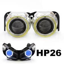 kt led angel demon eyes projector lens suitable for kawasaki ninja
