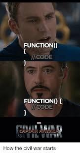 Programer Meme - functiono code functiono code how the civil war starts civil war