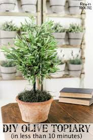 topiary trees diy olive topiary tree bless er house