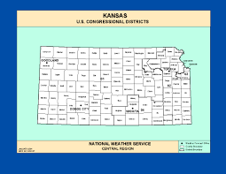 Kansas State Map Maps Kansas Congressional Districts