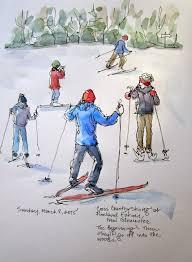 sketchbook wandering sketch 4 cross country skiing in maine
