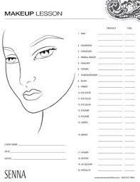 Makeup Classes New Orleans Makeup Client Card Client Record Card Treatment Consultation
