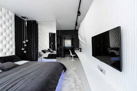 Straight Forward Bedroom Design In BlackWhite By Geometrix - Futuristic bedroom design