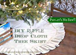 diy ruffle dropcloth tree skirt the happier homemaker