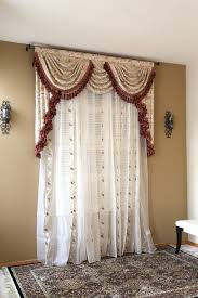 debutante overlapping swag and tail valance curtains
