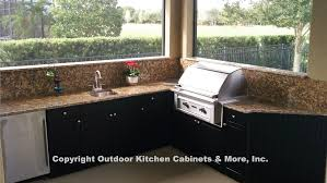 Ideas For Outdoor Kitchen Amazing Polymer Cabinets For Outdoor Kitchens Home Design Awesome