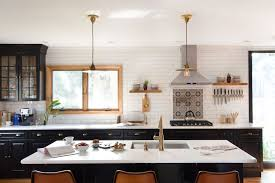 innovative backsplash ideas homepolish homepolish designer shannon tate complete overhauled her parents long island kitchen also using subway tile in the traditional white