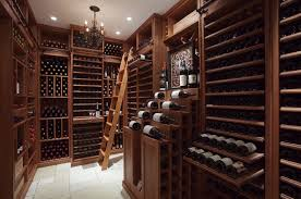 furniture wine cellar racks design with stairs and recessed