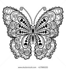 butterfly for coloring lace butterfly silhouette on white