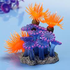 soft artificial resin coral aquatic fish tank ornament