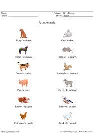 primaryleap co uk french farm animals worksheet