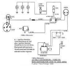 wiring diagram for 8n with 2 wire distributor circuit and wiring