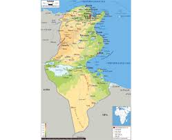 tunisia on africa map maps of tunisia detailed map of tunisia in tourist map