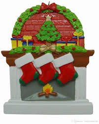personalized fireplace stockings family ornaments of 2 3 4 members