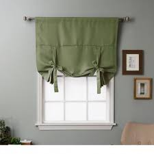 Curtain Shade Rhf Tie Up Shade For Small Window Rod Pocket Adjustable