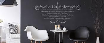 stickers muraux cuisine citation stickers muraux cuisine le cuisinier