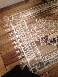Kitchen Rugs For Hardwood Floors by Top 10 Stencil And Painted Rug Ideas For Wood Floors