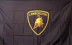 lamborghini logo amazon com lamborghini logo dealer flag sign office