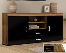 tv stand cabinet with drawers wood tv stand sideboard tv unit cabinet with drawers amazon co uk