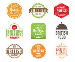 britische küche küche vektor label stockvektor 113170074