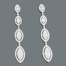 dangling diamond earrings dangling diamond earrings dangle earrings 588ct 18k gold