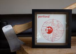Portland Maps Com by Portland Map Print U2014 Archie U0027s Press