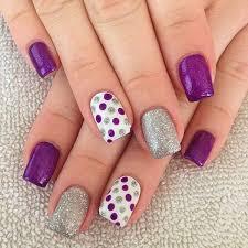 30 adorable polka dots nail designs purple and makeup