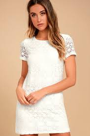 lace dress white dress lace dress shift dress 49 00