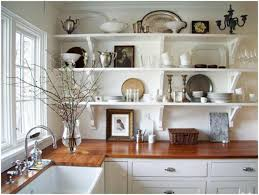 Shelf Paper For Kitchen Cabinets Kitchen Countertop Shelf Ideas Refresheddesigns Trend To Try Open