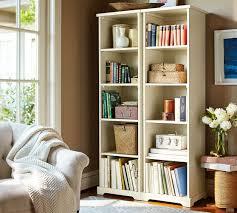 samantha narrow bookcase antique white pottery barn