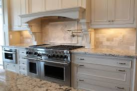 colonial cream granite for a traditional kitchen with a marble and