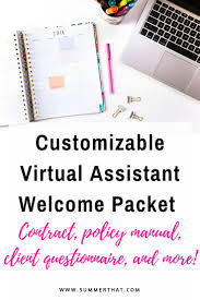 Home Design Client Questionnaire by Virtual Assistant Welcome Packet And Contract Virtual Assistant