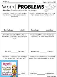 grade 1 math word problems worksheets best 25 1st grade story problems ideas on beginning