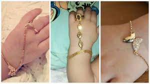 girl with bracelet images New stylish designer 39 s gold bracelet designs for baby girls jpg