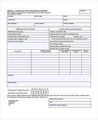 construction report template daily construction report template