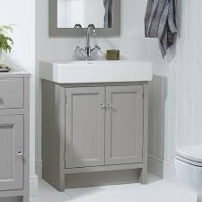 Loft Bathroom Ideas by Roper Rhodes Hampton Freestanding Countertop Vanity Unit Mocha